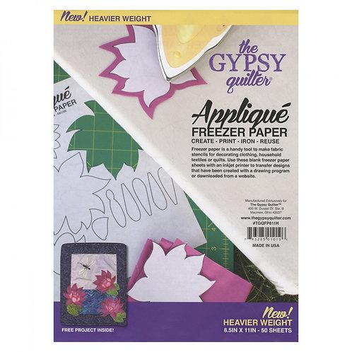Gypsy Quilter Applique Freezer Paper 50 Pcs