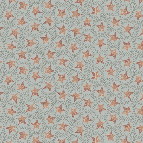 Anni Downs All For Christmas Light Blue Stars Fabric