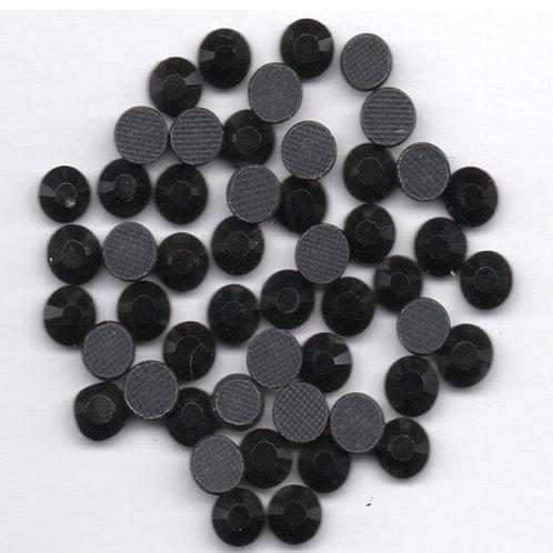 Hotfix Rhinestones 4mm - Jet Black - 60 Pieces