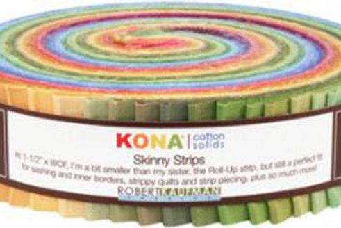 Robert Kaufman Kona Solids Dusty Skinny Strips/ Honey Bun