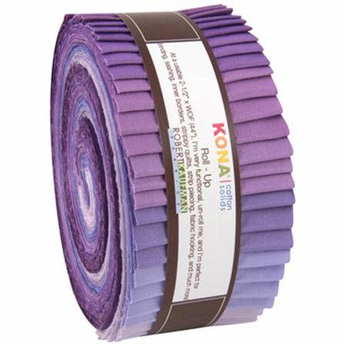 Robert Kaufman Kona Solids Lavender Fields Roll Up/ Jelly Roll