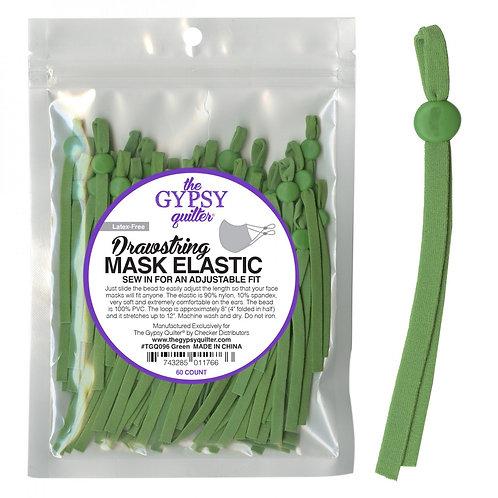 Drawstring Mask Elastic Green 8in 60ct