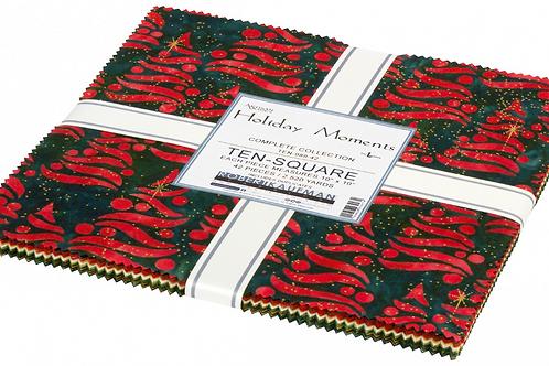 Robert Kaufman Holiday Moments Batik Layer Cake with Metallic