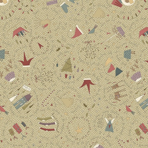 Anni Downs All For Christmas Sage Allover Fabric