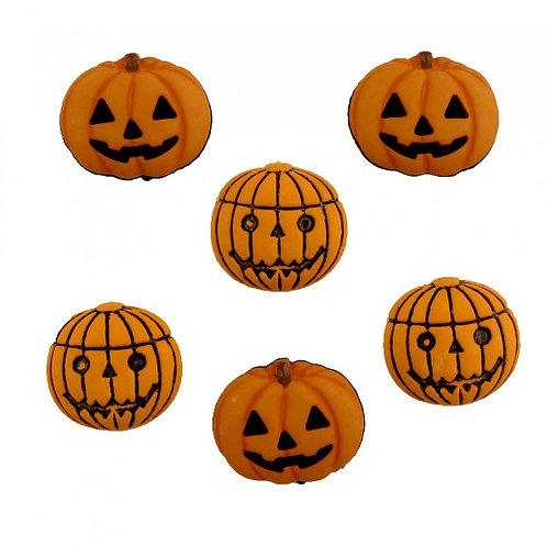 Halloween Many Jacks Button Embellishments
