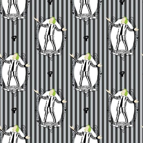 Beetlejuice Showtime Halloween Fabric
