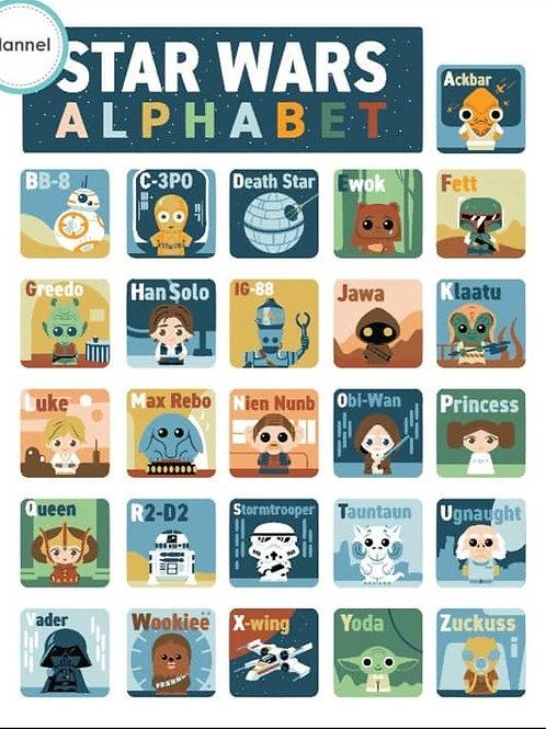 Star Wars Alphabet Panel - FLANNEL