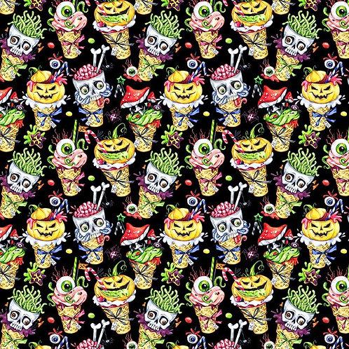 Spooky Ice Scream Fabric