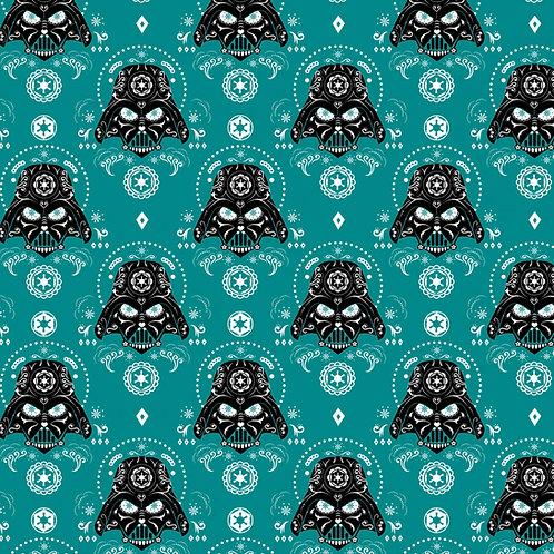 Fleece - Star Wars Darth Vader Sugar Skulls Fleece Fabric