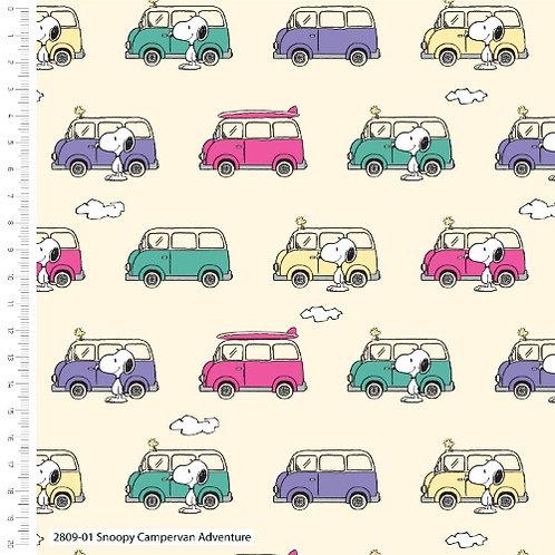 Snoopy Campervan Adventure Fabric