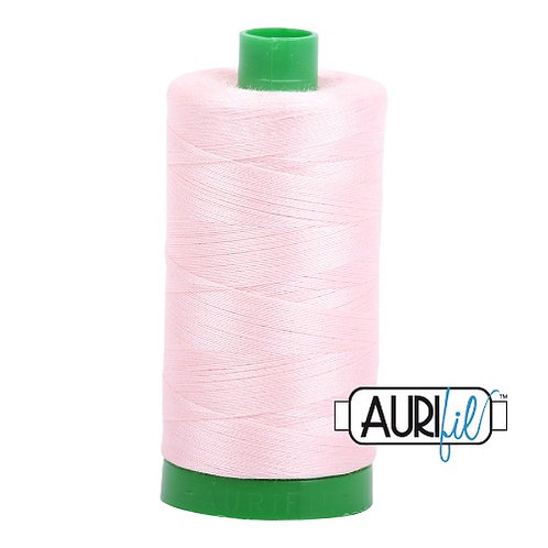 Aurifil 40 1000m 2410 Pale Pink Cotton Thread