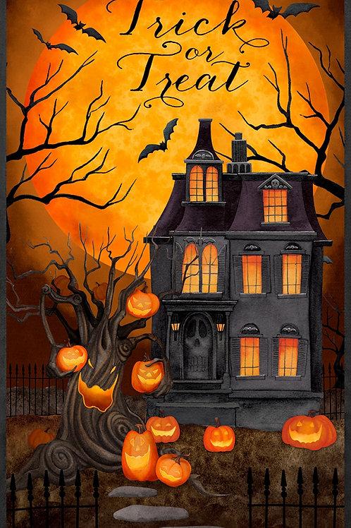 Haunted Night House Halloween Panel