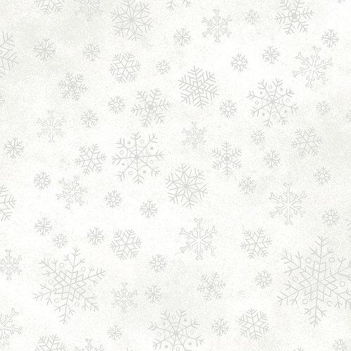 Sparkle Suede Metallic with Silver Snowflakes