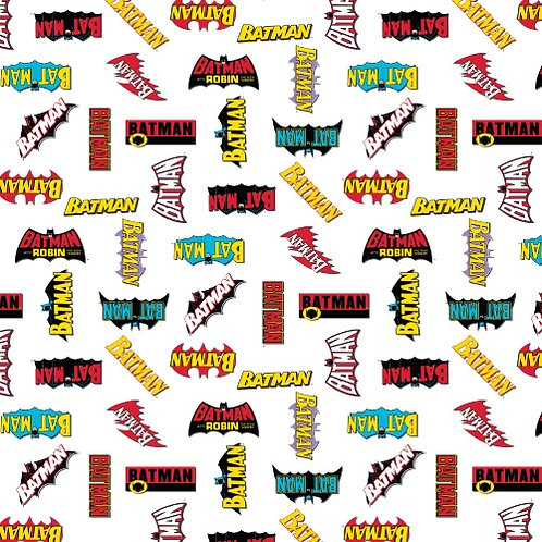 DC Batman Logo History Fabric