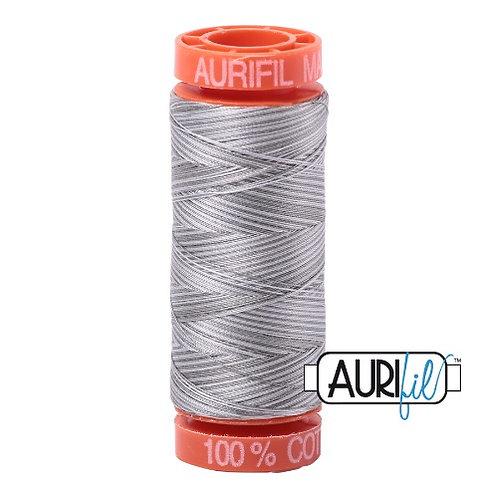 Aurifil 50 200m 4670 Cotton Thread Silver Fox