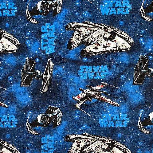 Star Wars Blue Ships Fabric
