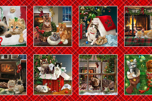 Fireside Kittens Blocks Panel