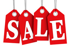 Notions, Sewing Tools, Rulers and Fabrics in the SALE.
