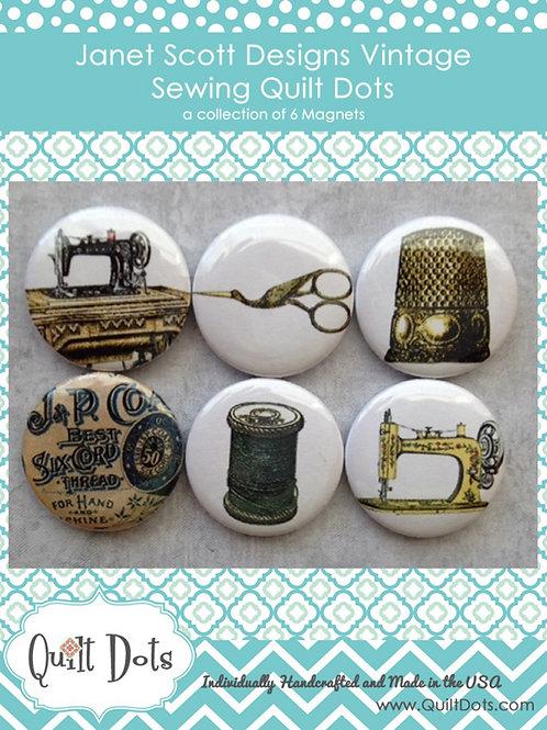 Vintage Sewing Collection 6 Magnet Set