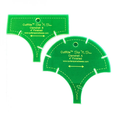 CutRite Slit N Sew Clamshell 4 Inch Finished Template