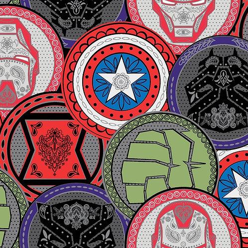 Marvel Coins Fabric