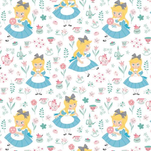 Alice in Wonderland World of My Own Fabric