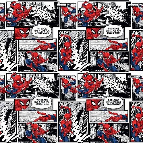 Spiderman Comic Panels Fabric