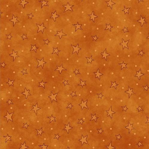 Orange Starry Fabric