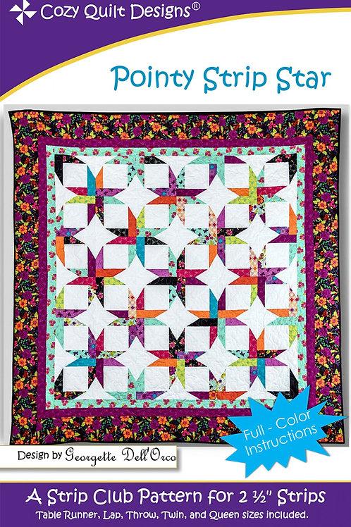 Cozy Quilt Designs Pointy Strip Star Quilt Pattern