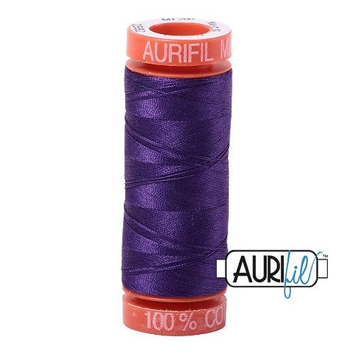 Aurifil 50 200m 2582 Cotton Thread Dark Violet