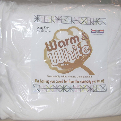 Warm and White King Size - Cotton