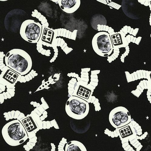 LP Black Glow in the Dark Cat Astronauts in Space