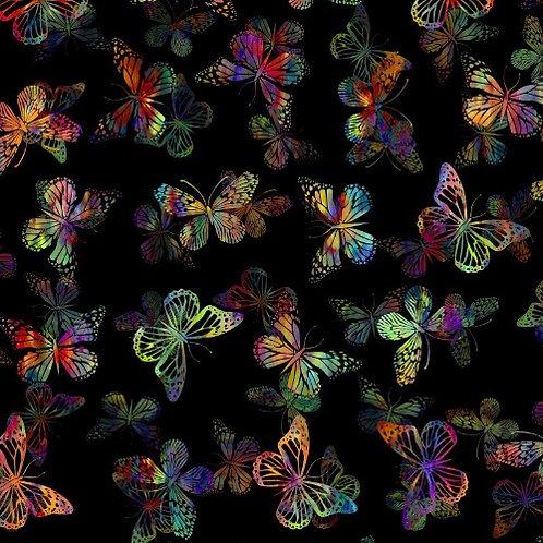 Urban Jungle Butterflies Fabric - Multi