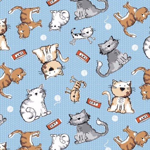 Friendly Cats Fabric