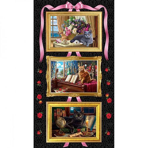 Madame Victorias Elegant Cats Panel