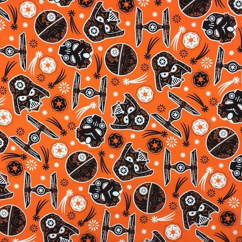 Star Wars Orange Darth Vader Halloween Fabric