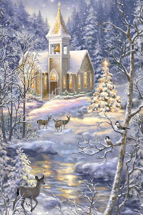 Multi Winter Church Panel