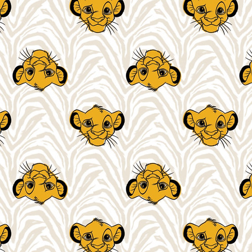 LP Disney Lion King Simba Heads Fabric