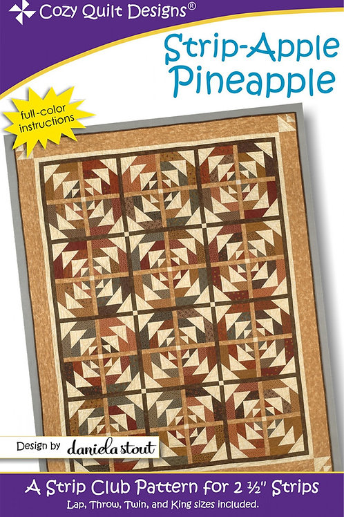 Cozy Quilt Designs Strip-Apple Pineapple Quilt Pattern