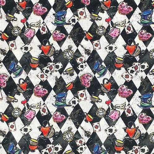 Wonderland Black and White Fabric