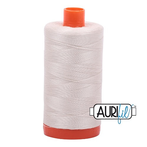 Aurifil 50 1300m 2309 Silver White Cotton Thread