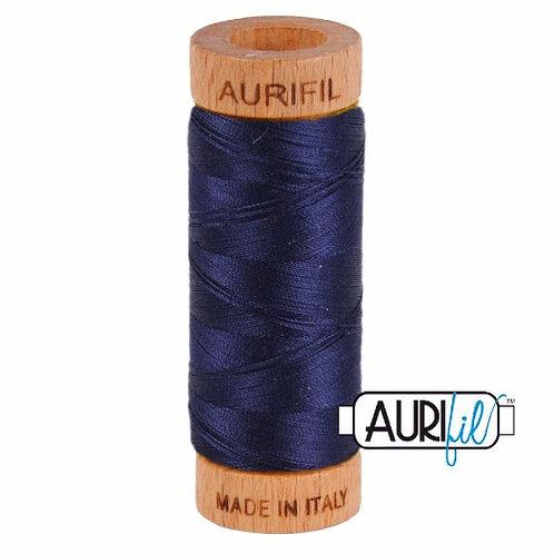 Aurifil 80 280m 2785 Very Dark Navy Cotton Thread