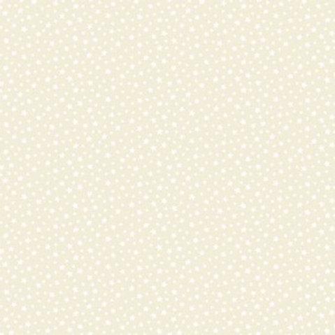 Makower Star White on Cream Fabric 306/Q2