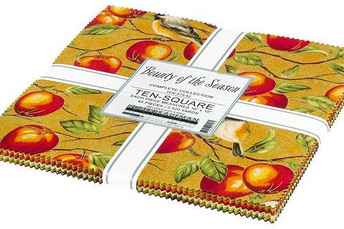 Robert Kaufman Bounty of the Season Layer Cake with Metallic