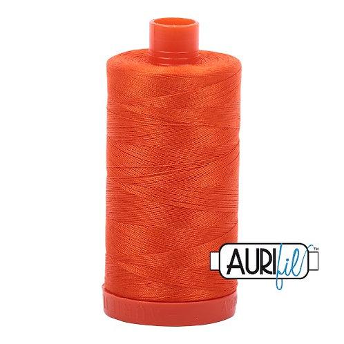 Aurifil 50 1300m 1104 Neon Orange Cotton Thread