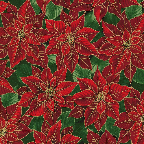Holiday Flourish Holiday Poinsettia Red w/metallic