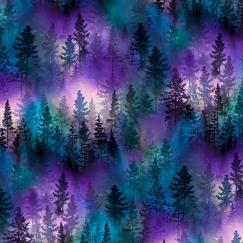 Purple Forest Fabric