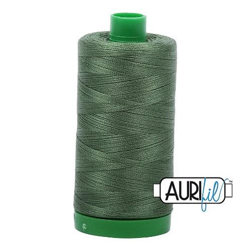 Aurifil 40 1000m 2890 Very Dark Grass Green Cotton Thread