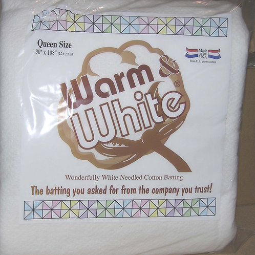 Warm and White Queen Size - Cotton