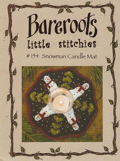 Bareroots Little Stitches Snowmen Candle Mat Pattern